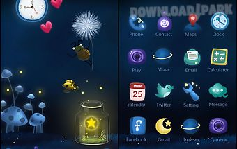 Rainbow night go launchertheme