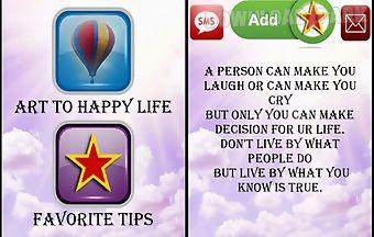 Arts to happy life
