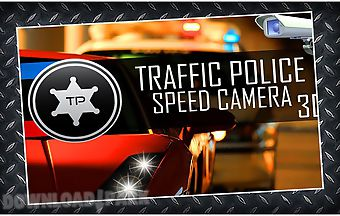 Traffic police speed camera 3d