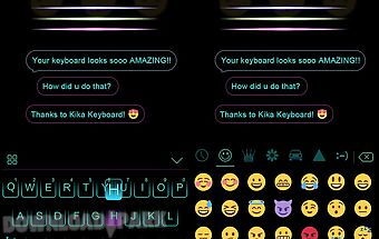 Neon blue kika keyboard theme