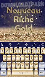 nouveau riche gold theme
