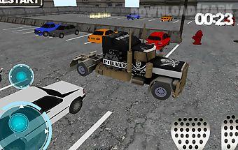Truck driver parking 3d