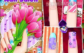 Nail art salon: nails manicure