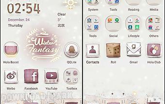 Winter fantasy hola theme