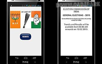 Delhi election result 2015 app