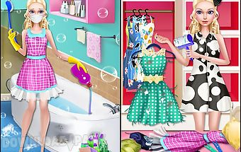 Fashion doll - house cleaning