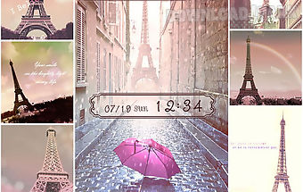 Theme rain at the eiffel tower