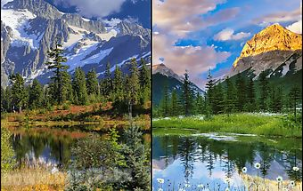 Mountains, water, cloudslwp