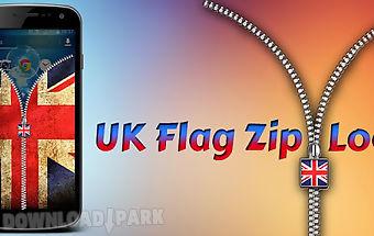 Uk flag zipper screen lock