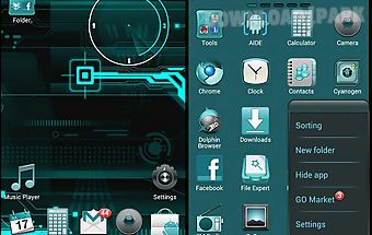 Cyanogen go launcher ex theme