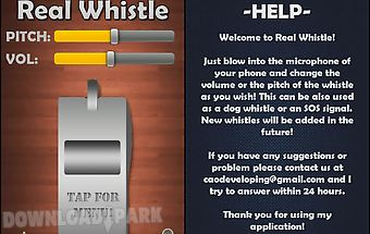 Real whistle - blow it!