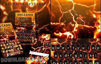 Volcano animated keyboard