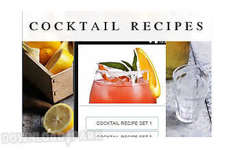 Cocktail recipes food