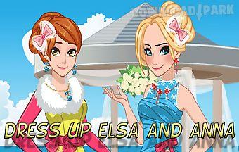 Dress up elsa and anna bridesmai..