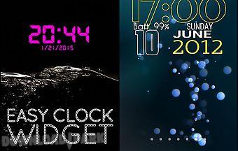 Easy clock widget