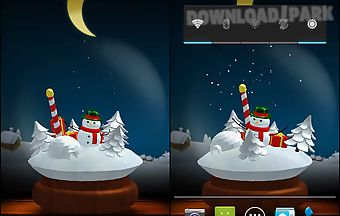 Frosty snowman live wallpaper fr..