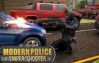 Modern police: sniper shooter