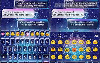Space travel emoji keyboard