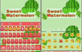 Sweet watermelon keyboard skin