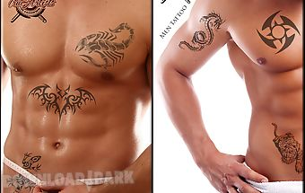 Men tattoo salon photo editor