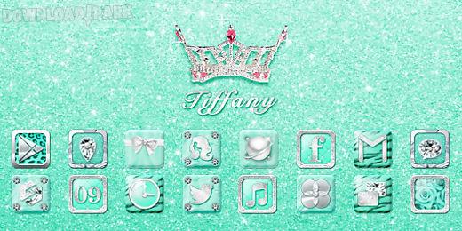 tiffany go launcher theme