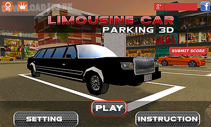 3d limousine car parking
