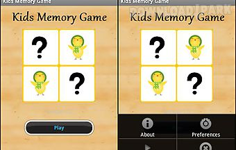 Kids memory card game