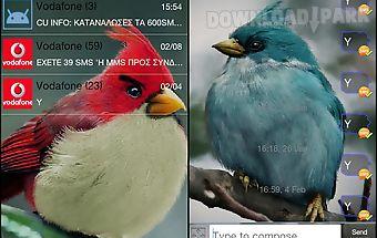Go sms pro angry birdsr theme