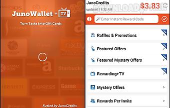 Junowallet earn gift cards now