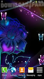 neon butterfly live wallpaper