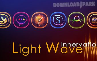 Light wave go launcher theme