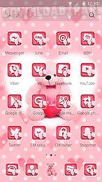 pink teddy love theme