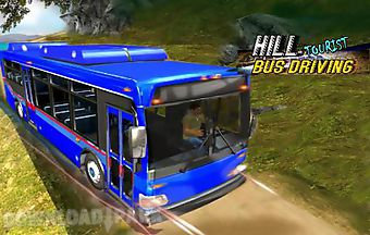 Hill tourist bus driving
