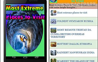 Most extreme places to visit