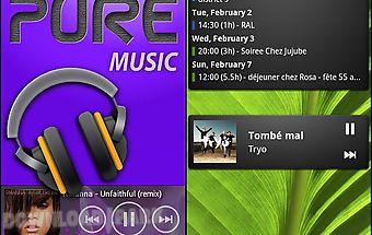 Pure music widget