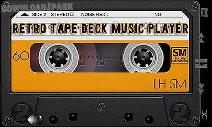 retro tape deck music player