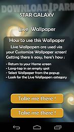 star galaxy 3d live wallpaper