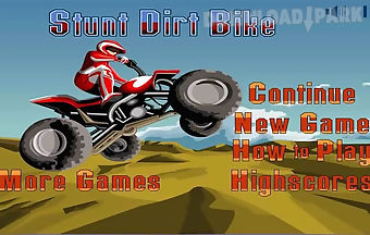 Stunt dirt bike free