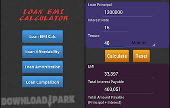 Loan/mortgage emi calculator