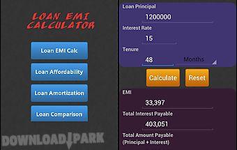 Loan/mortgage emi calculator