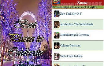 Best places to celebrate xmas