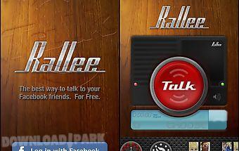 Rallee walkie talkie ptt