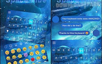 Space blue kika keyboard theme