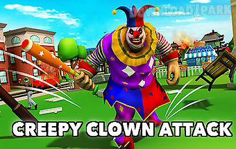 Creepy clown attack