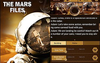 The mars files: survival game