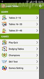 learn multiplication tables