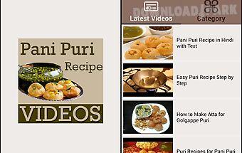 Pani puri recipes videos