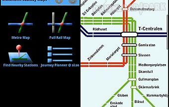 Stockholm subway maps plus