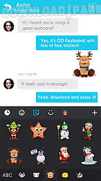 go keyboard christmas sticker