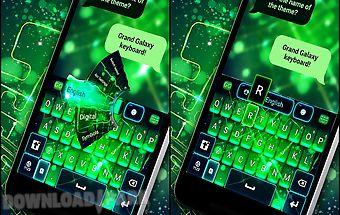 Grand galaxy go keyboard theme
